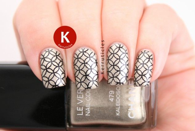 Chanel Kaleidoscope with geometric stamping using Born Pretty Store BP-13