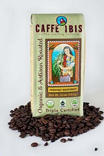 Caffe Ibis - Peruvian Rainforest - Whole USDA Organic Coffee Beans (12oz) -- You can find more details by visiting the image link.
