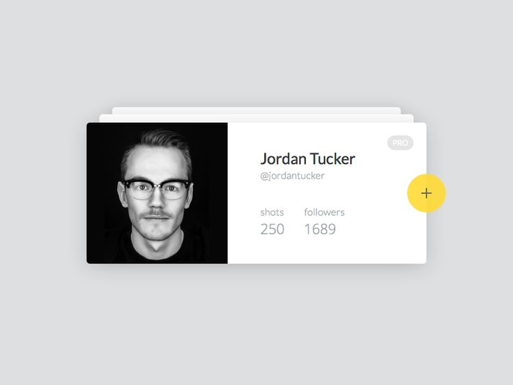 Day 006 of daily ui project. User profile. dailyui, ui, ux, user, profile