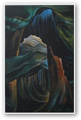 Emily Carr, forest BC  love the feelings this invokes - reminding me of all the reasons i love pacific northwest forests.