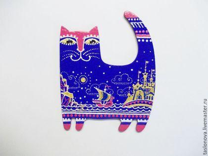 """Купить Магнит """"Кот учёный"""" - комбинированный, кот, коты и кошки, котик, сувениры и подарки"""