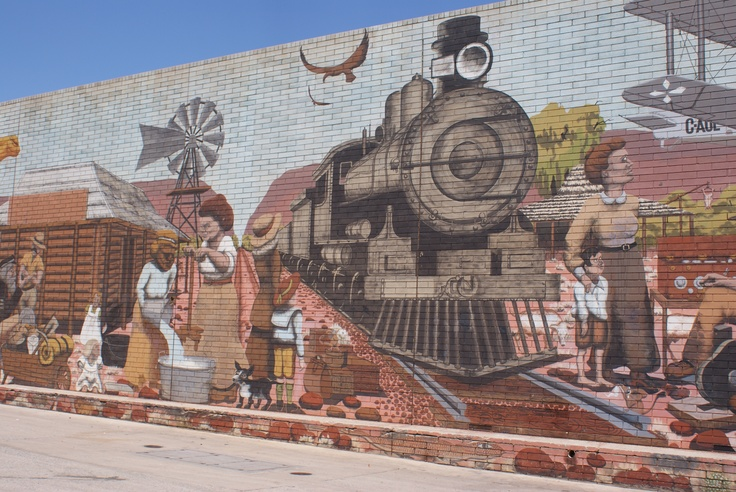 Mural at Alice Springs