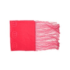 Gucci Scarves Signature Classic Gucci Pattern Silk Scarf, Hot Pink