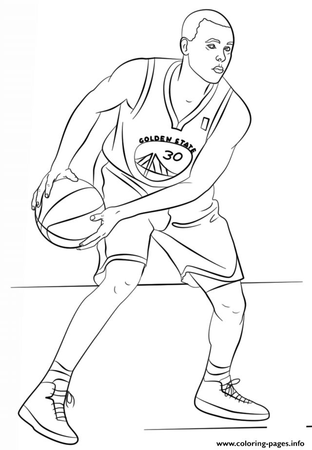 print stephen curry nba sport coloring pages  sports