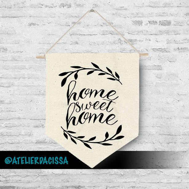 Home Sweet Home Flâmula Atelier Da Cissa www.atelierdacissa.com.br #decoration #arquitetura #quarto #girl #flag #wallcompose #wall #compose #menina #menino