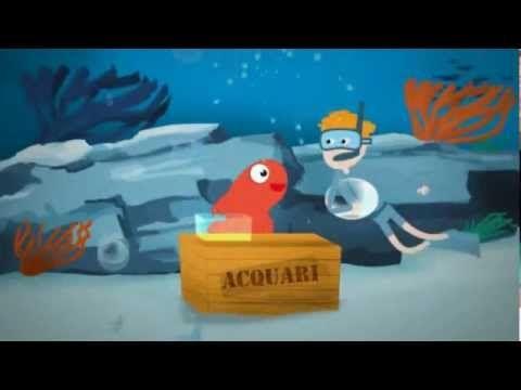 CANTIAMO LA GRAMMATICA - Acquarello acquatico - Canzoni per bambini di Mela Music - YouTube