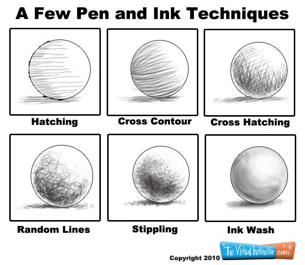 Pen and ink techniques