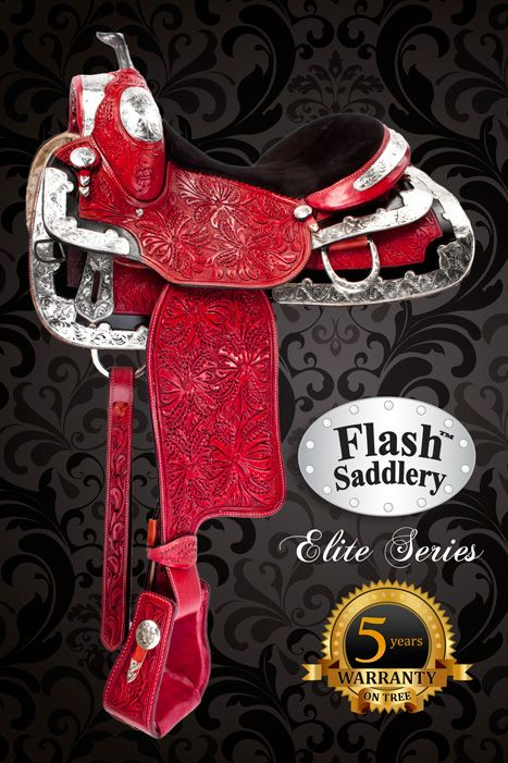 Blue Ribbon Western Show Horse Saddle Flash Saddlery