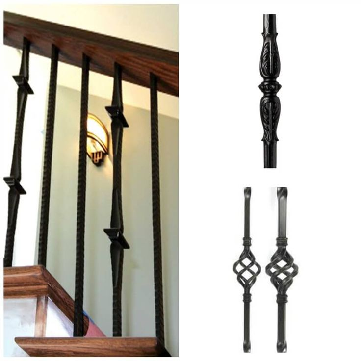 Iron Balusters are available in either solid wrought iron ...