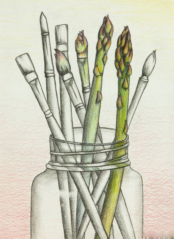 paintbrush drawing tumblr. transform art mason jar veggies paint colored pencil karissa viebeck drawings pinterest asparagus and graphite paintbrush drawing tumblr b