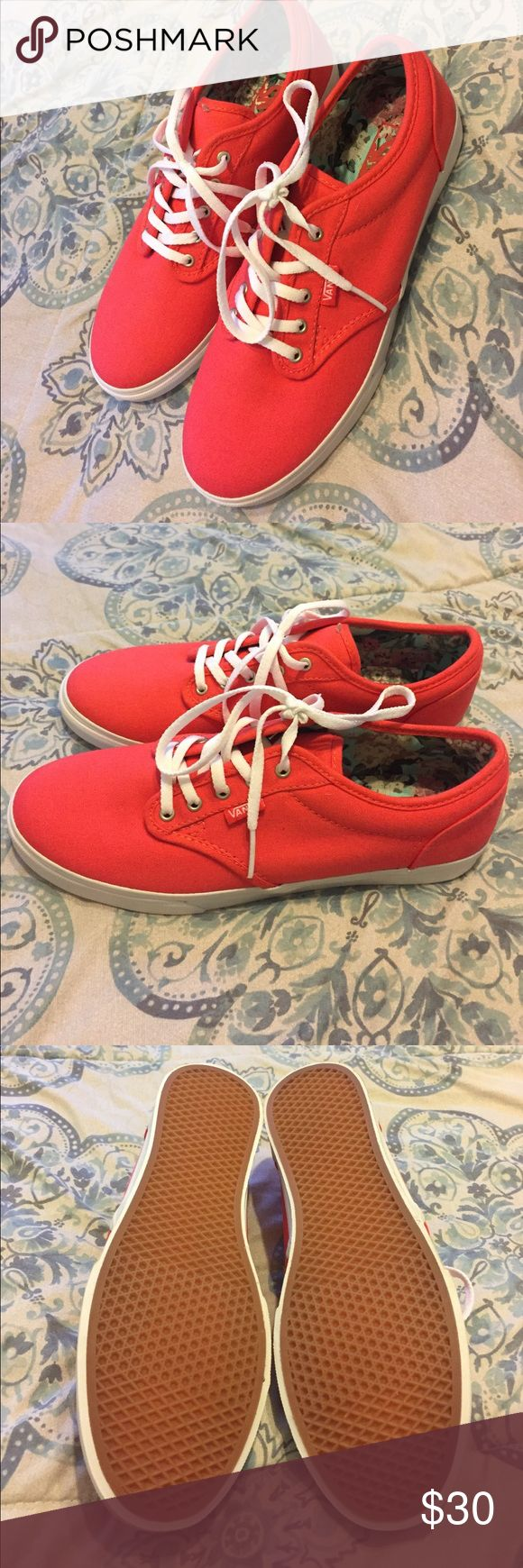 🆕 Coral Vans ‼️ Brand new and never worn cute Vans sneakers. Has a floral decor inside. Will be cute to wear with shorts or fun dress. Great for this summer! Please no trades! Vans Shoes Sneakers
