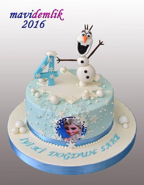 mavi demlik mutfağı- izmir butik pasta kurabiye cupcake tasarım- şeker hamurlu-kur: KARLAR ÜLKESİ ELSA PASTASI