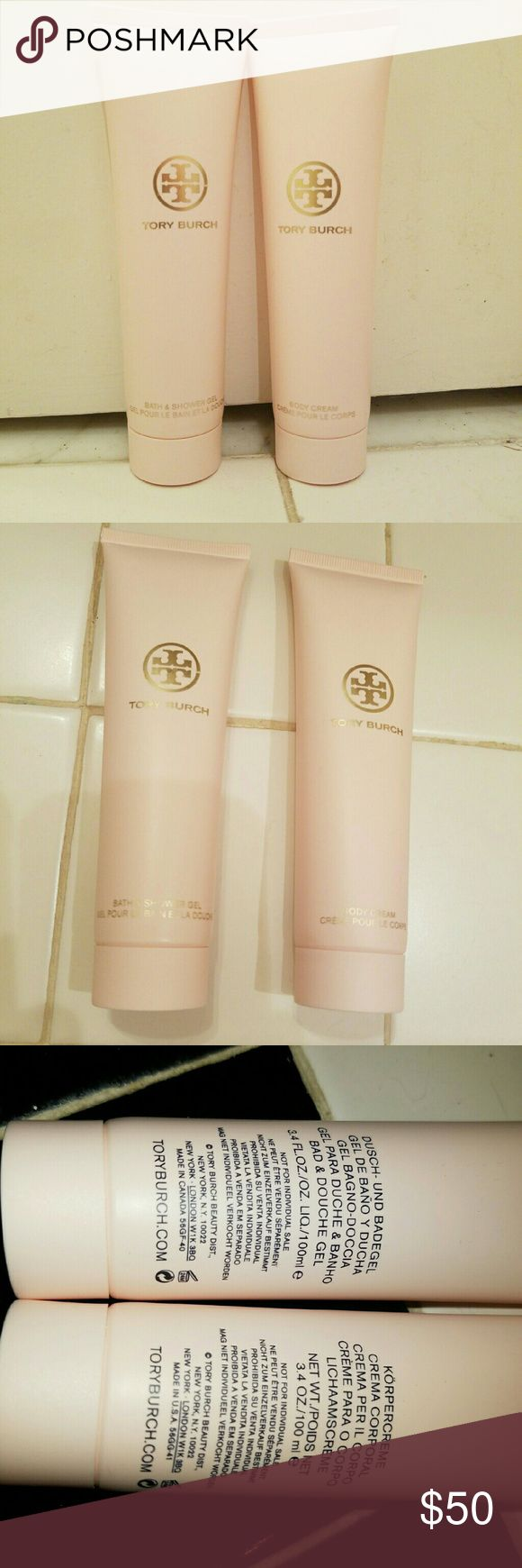 Tory Burch Brand New Body Creme & Bath/Shower Gel This is Tory Burch Brand New Body Creme and Shower/Bath Gel. Never opened. Both are 3.4 FL.OZ. I love this Tory Scent but I'm not one to open something so strong on a daily basis. I am open to offers for this listing and  all others! I just want my things to make their way to someone else to be enjoyed. Tory Burch Makeup