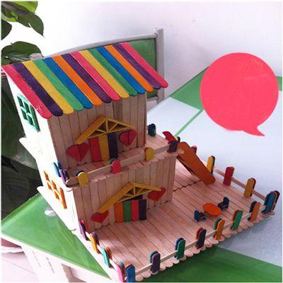 🏡 Casinha bem Colorida feita com Palito de Picolé -  /  🏡 Colorful House Made with Popsicle Stick -
