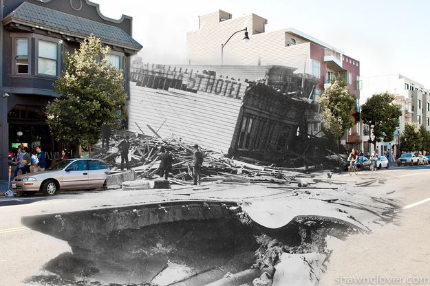 If The 1906 San Francisco Earthquake HappenedToday  A San Francisco photographer recreated — and then merged — images from more than a century apart.