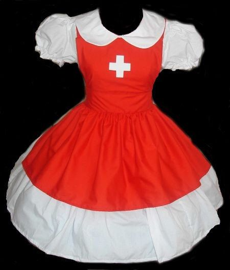 Cute Nurse Halloween Costume Dress and Apron Red and White Womens small medium large by MGDclothing on Etsy https://www.etsy.com/listing/105083250/cute-nurse-halloween-costume-dress-and