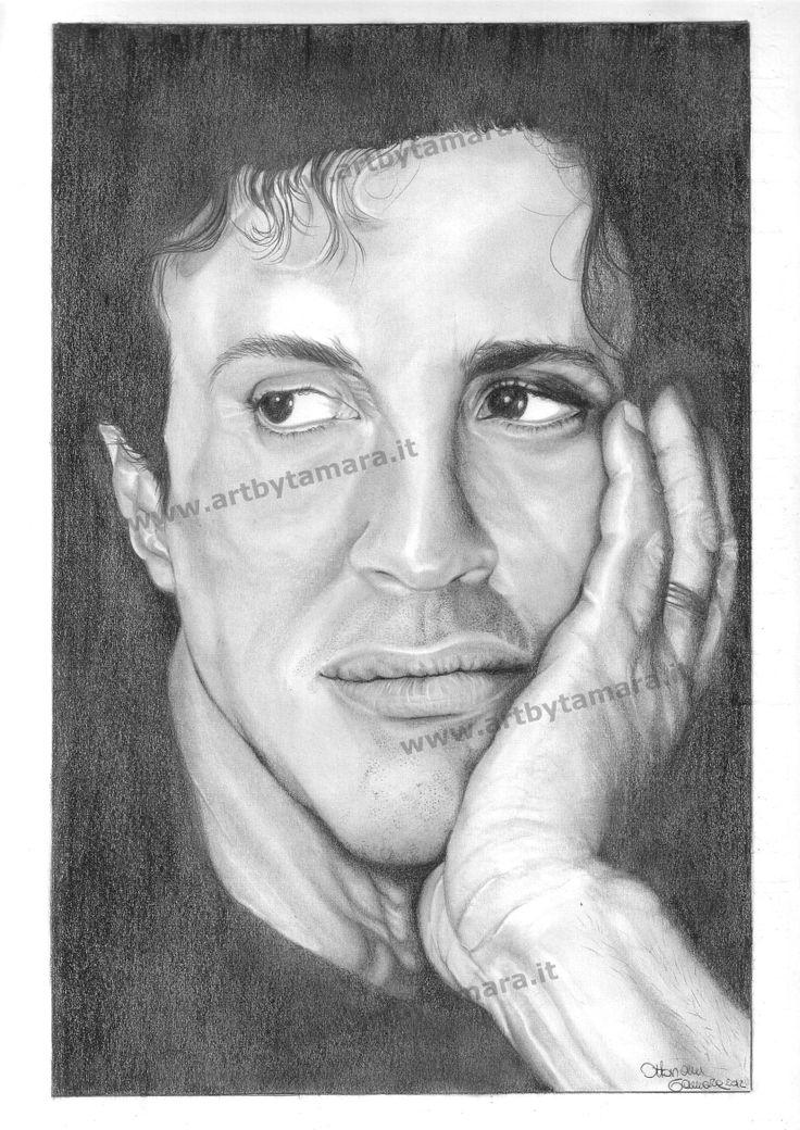 Sylvester Stallone a matita .
