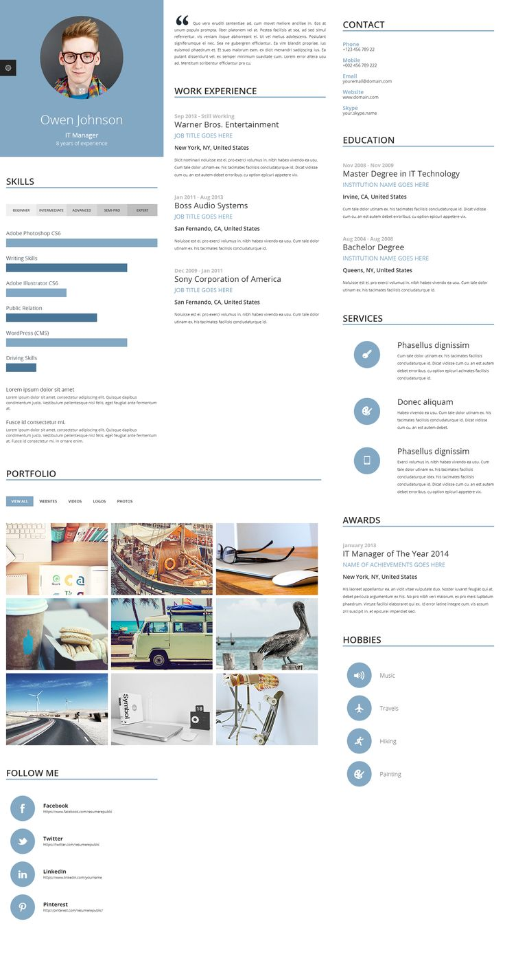 proxima online resume template is unique online resume template because of its multi column - Professional Resume Templates Free Download