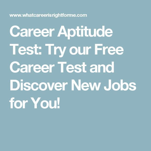 Career Infographic : Career Aptitude Test: Try Our Free Career Test And  Discover New Jobs  Career Test Free