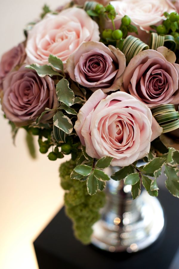 Amnesia roses look more purpley when next to soft pink