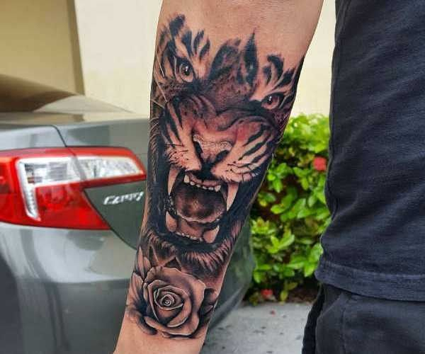 Tatuaż Tygrys Znaczenie Historia 40 Zdjęć Pomysł Na