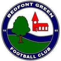 BEDFONT  GREEN FC   - BEDFONT  old logo  60s