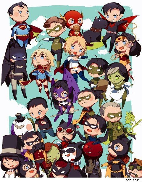 DC Comics chibi art by morfeo11 - Best Art Ever (This Week) - 03.15.13