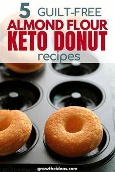 Schauen Sie sich diese 5 Mandelmehl Keto & Low Carb Donut Rezepte | Keto LCHF Sweet R …