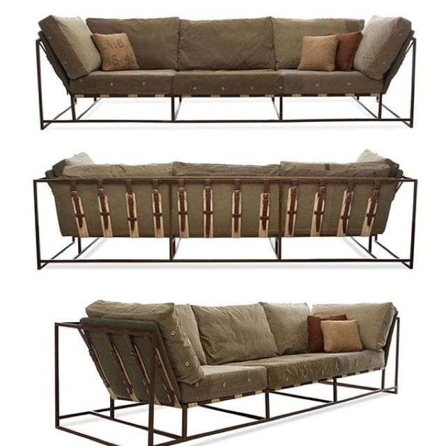 Repurposed military grade industrial couch