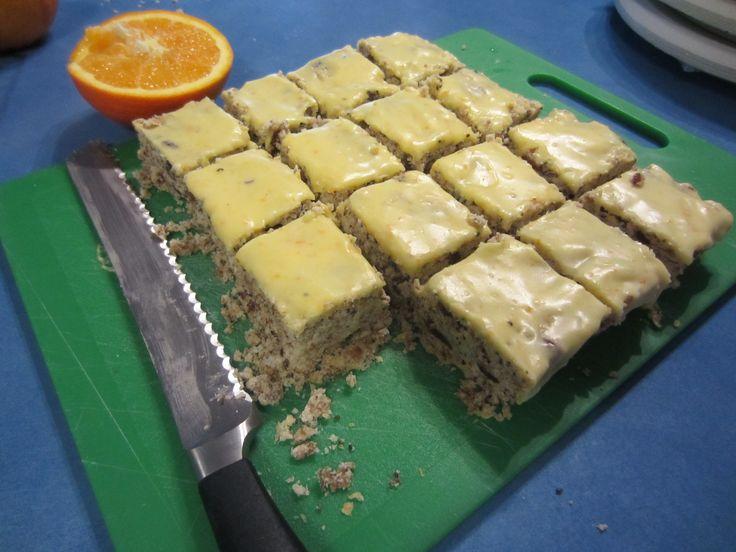 Orange weetbix slice