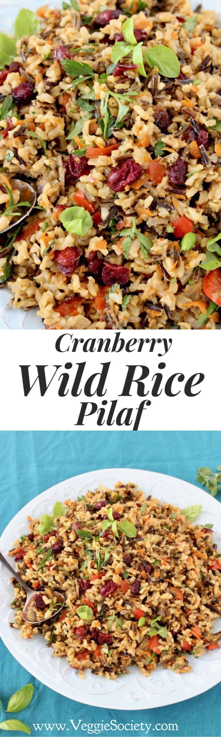Cranberry Wild Recipe Pilaf Recipe Made with a mix of brown basmati and black rice. Healthy, easy, vegan and gluten free | CiaoFlorentina.com @CiaoFlorentina