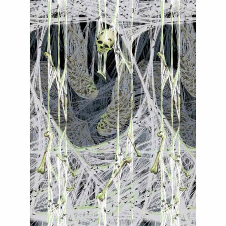 BACKGROUND SPIDER RM $24.99 Spiders Lair Web Haunted House Carnival Halloween Party Scene Setters Room Roll #Amscan-