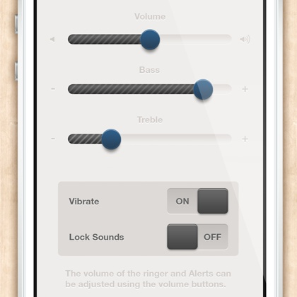 Sound Setting by Sun Bzy. Tagged with: ui,user interface,button,volume,on/off,sound,sound setting,setting,sunbzy,minimal. Project Description: Sound setting page you can be adjusted the volume, bass, treble and switch on/off to adjust Vibrate and Lock Sounds.