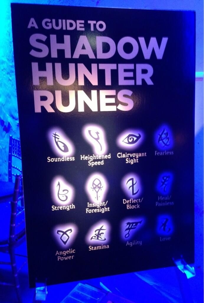 The Mortal Instruments: City of Bones ~ BEA (Book Expo America- 2013)  TMI Movie Party- Shadowhunter Runes