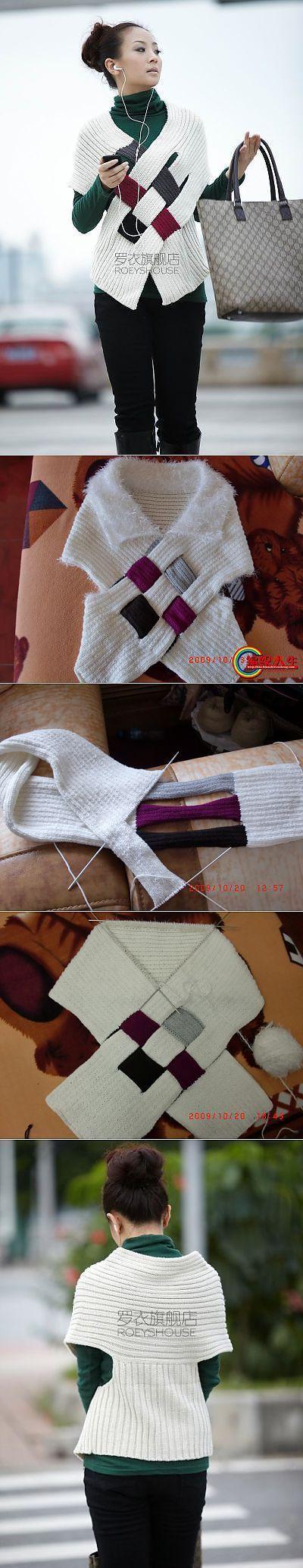 "Оригинальная кофточка.... | вязание | Постила [   ""Posts on the topic of вязание added by Любовь Сергеева"" ] #<br/> # #Shawl #Patterns,<br/> # #Originals,<br/> # #Knitted #Shawls,<br/> # #Fashion #Blouses,<br/> # #Women"