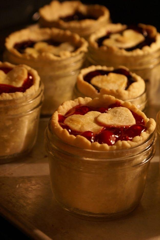 Mini Cherry Pie in a Jar : Recipe ~ http://tweetledeedesignco.blogspot.com/2011/01/love-in-jar.html?m=1