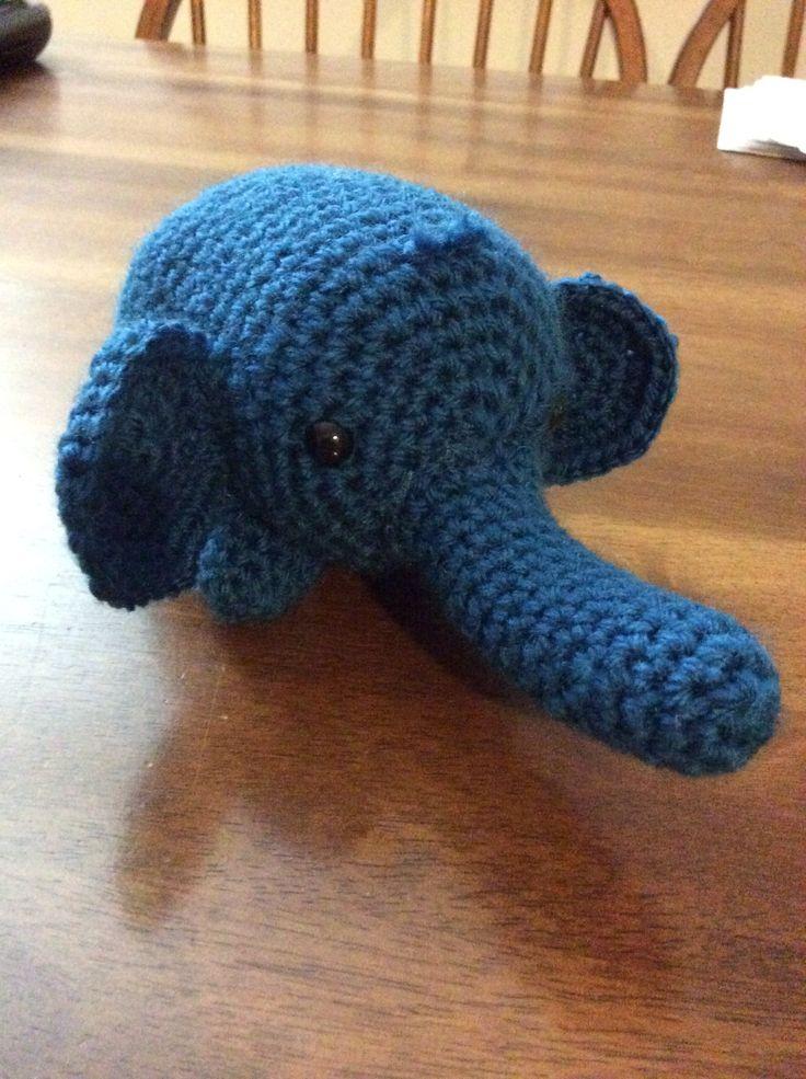Crochet Outline Stitch : Crochet elephant Woolly Stitches Pinterest Crochet, Crochet ...