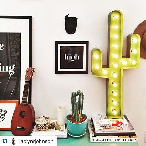 SALE!!! Regular price $159.00 This listing is for one illuminated marquee CACTUS. Each one is handcrafted of steel and is completely…