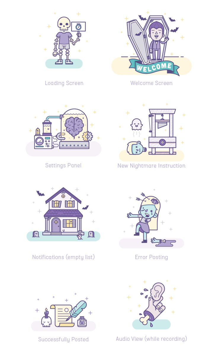 Nightmare illustrations