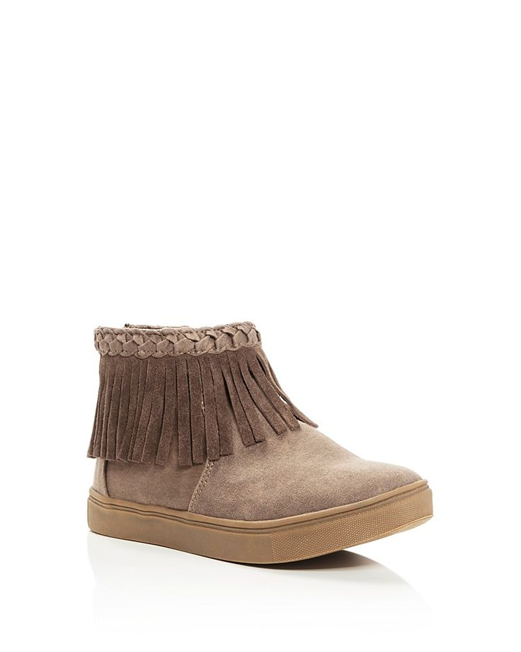 Steve Madden Girls' Jbano Fringe High Top Sneakers - Little Kid, Big Kid