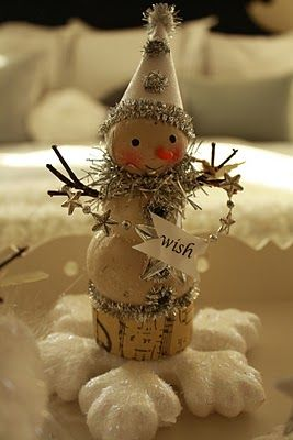"DIY ""Wish"" Snowman materials from The Dollar Tree and Walmart"