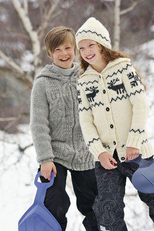1011: Modell 12 & 13 Jakke, lue og jakke #strikk #knit #fjells