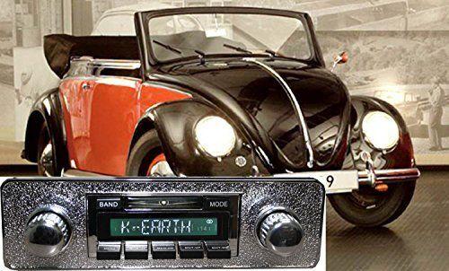 1949-1957 Volkswagen Bug Beetle USA-630 II High Power 300 watt AM FM Car Stereo/Radio with iPod Docking Cable