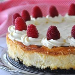 cheesecake met frambozen en witte chocola