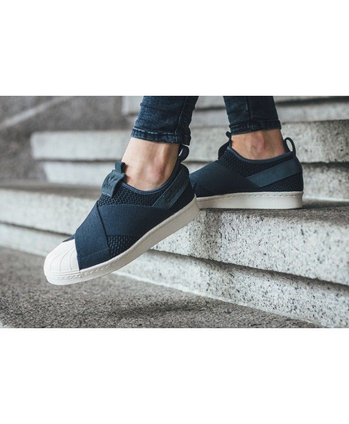 Adidas Superstar Slip On Navy Shoes