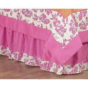 Tropical Hawaiian Bed Skirt for Surf Crib and Toddler Bedding Sets