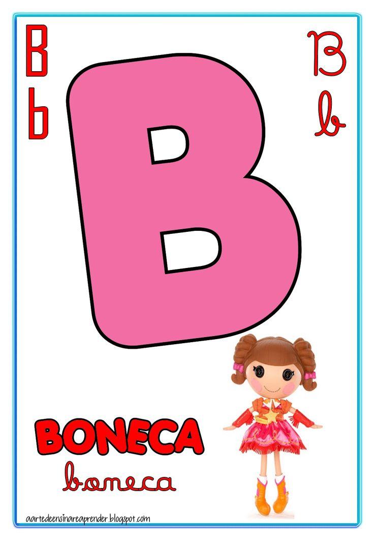 Alfabeto quatro tipos de letra