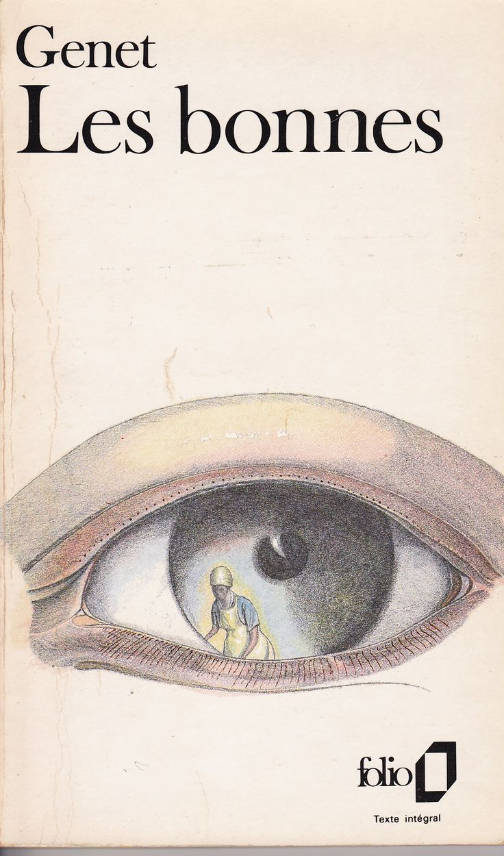 Les Bonnes, Jean Genet. Illustration de Philippe Vasseur pour Folio. (Prisonnier d'un regard. N'exister que dans le regard de l'autre. Qui regarde ?)