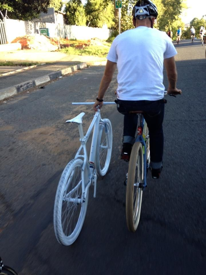 ghost bike for Burry Stander :( R.I.P.
