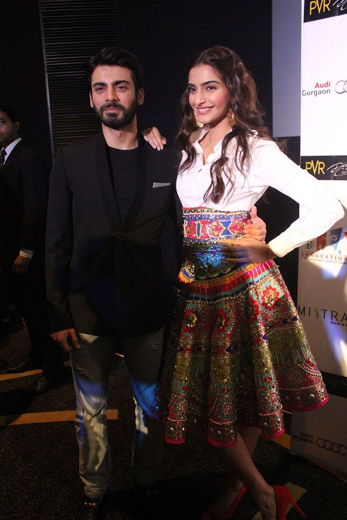 'Khoobsurat' couple Sonam Kapoor and Fawad Khan were in Delhi for the promotion of their film.